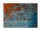 Paper with Gray, Orange, and Blue Paint Abstract Prints by  iulias