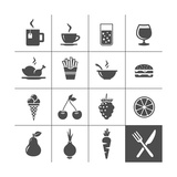 Food and Drink Icons Print by  frbird