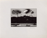 Paysage Aux Deux Lunes Collectable Print by Bezdikian Assadour