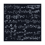 Scientific Formulas Print by  ArtPixz