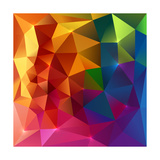 Abstract Triangles Colorful Background Art by  art_of_sun
