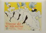 La troupe de Melle Eglantine Collectable Print by Henri de Toulouse-Lautrec