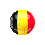 Soccer Ball with Belgium Flag Posters by gualtiero boffi