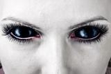 Evil Black Female Zombie Eyes Poster by  Katalinks
