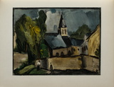 L'Eglise de Bougival, 1913 Collectable Print by Maurice De Vlaminck