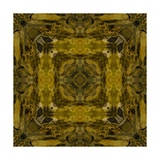 Art Nouveau Colorful Ornamental Vintage Pattern in Gold and Green Colors Prints by Irina QQQ