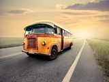 Vintage Van on a Countryside Road Photographic Print by  olly2
