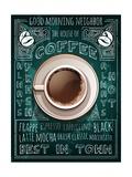 Cup of Coffee on Blackboard Menu Kunstdrucke von  Marvid