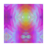 Art Vintage Geometric Ornamental Pattern, Blur Background in Lilac and Pink Colors Prints by Irina QQQ