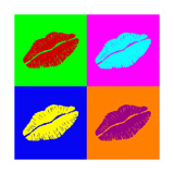 Warhol Lips Premium Giclee Print by  PiXXart