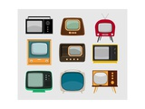 Vintage TV-S Print by  Marvid