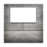 Blank White Board in a Grungy Concrete Room Posters by  landio