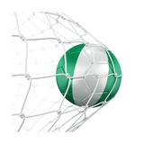 Nigerian Soccer Ball in a Net Kunst af  zentilia