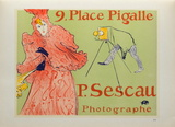 Sescau photographe Collectable Print by Henri de Toulouse-Lautrec