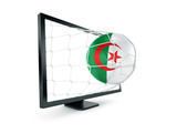 Algerian Soccer Ball Coming Out of a Monitor Prints by  zentilia