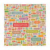 Education Word Collage Premium Giclee Print by  Login
