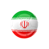 Soccer Ball with Iran Flag Art by gualtiero boffi