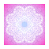 Indian Ornament, Mandala in Pink Premium Giclee Print by  art_of_sun
