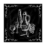 Restaurant or Bar Wine List on Chalkboard Background Poster by  incomible