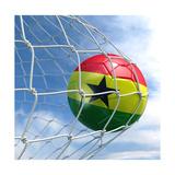 Ghanaian Soccer Ball in a Net Plakater af zentilia