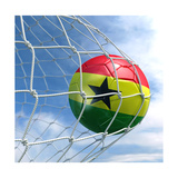Ghanaian Soccer Ball in a Net Prints by  zentilia