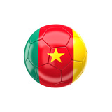 Soccer Ball with Cameroon Flag Posters by gualtiero boffi