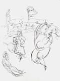 Plafond de Lopera - Carmen Sammlerdrucke von Marc Chagall
