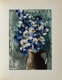 Les Delphiniums, 1955 Collectable Print by Maurice De Vlaminck