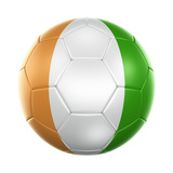 Ivoran Coast Soccer Ball Prints by  zentilia
