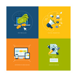 Flat Design Icons for Web and Mobile Services and Apps Posters by  PureSolution