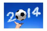 Soccer with Sky Prints by  aslysun