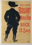 Bruant au Mirliton Collectable Print by Henri de Toulouse-Lautrec