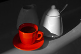 Red Cup of Coffee Prints by  jam-design.cz