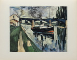 La Seine a Poissy, 1908 Collectable Print by Maurice De Vlaminck