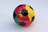 Soccer Ball with Cameroon Flag Print by  BarbraFord