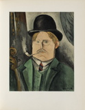 Portrait de Lartiste, 1910 Collectable Print by Maurice De Vlaminck