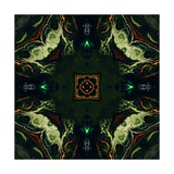 Art Nouveau Ornamental Vintage Pattern in Green and Red Colors Posters by Irina QQQ