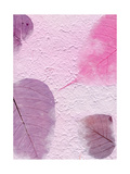 Texture Series - Purple Paper with Leaves Posters by  samgrandy