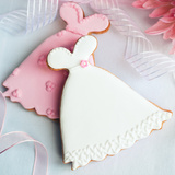 Wedding Dress Cookies Photographic Print by Ruth Black
