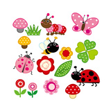 Cute Garden Insect Prints by  hehehefish