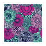 Stylish Bright Pattern Made of Gorgeous Flowers Posters by  smilewithjul