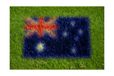 Flag of Australia on Grass Prints by  raphtong