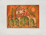 Temple Rouge Collectable Print by Francoise Deberdt