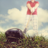 A Person Playing Golf Photographic Print by  graphicphoto