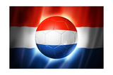 Soccer Football Ball with Netherlands Flag Affiches par  daboost