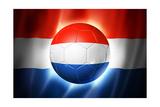 Soccer Football Ball with Netherlands Flag Posters av  daboost