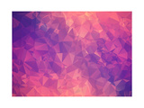 Purple Pink Abstract Background Polygon Prints by  Talashow