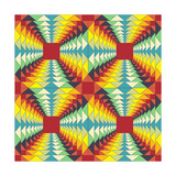 Geometric Pattern: Fractal Illusion Prints by  Little_cuckoo