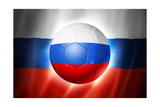 Soccer Football Ball with Russia Flag Affiches par  daboost