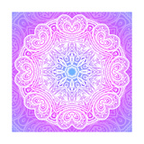 Indian Ornament, Mandala in Pink Poster by  art_of_sun